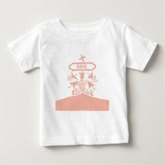 Pink Dutch Flowers, add names Baby T-Shirt