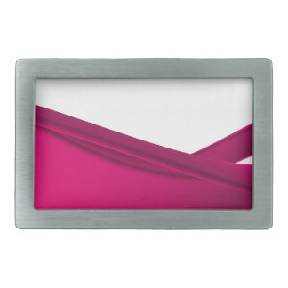 Pink dynamic waves belt buckle