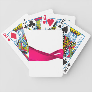 Pink dynamic waves bicycle playing cards