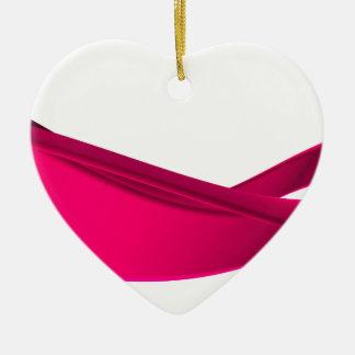 Pink dynamic waves ceramic ornament