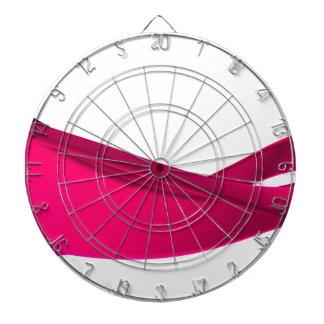 Pink dynamic waves dartboard
