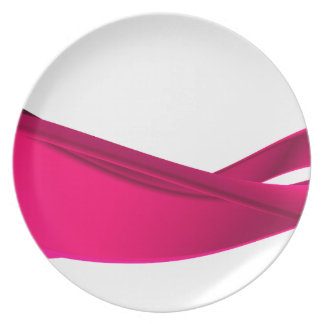 Pink dynamic waves plate