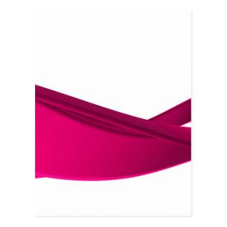 Pink dynamic waves postcard