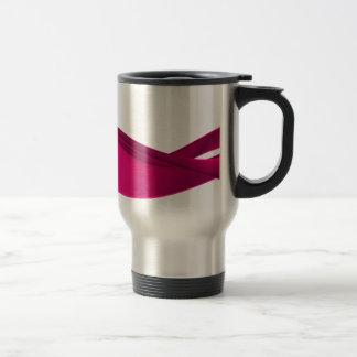 Pink dynamic waves travel mug