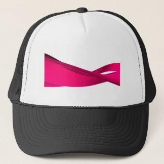 Pink dynamic waves trucker hat