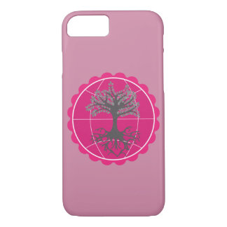 Pink Earth - Tree of Life (Film grain effect) iPhone 7 Case