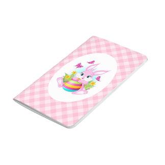 Pink Easter Bunny Pocket Journal