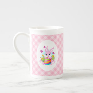 Pink Easter Bunny Tea Cup