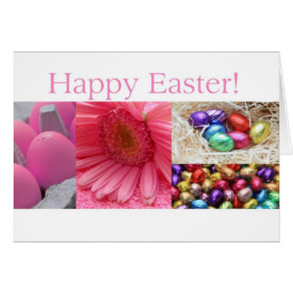 Pink Easter Collage Cards