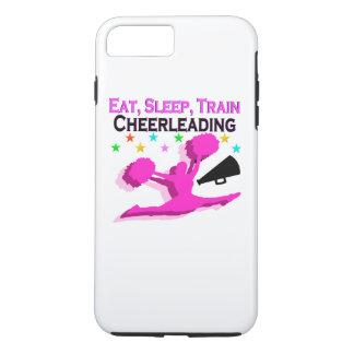 PINK EAT SLEEP TRAIN CHEERLEADING iPhone 7 PLUS CASE