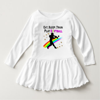 PINK EAT, SLEEP, TRAIN, PLAY SOFTBALL DESIGN TSHIRTS