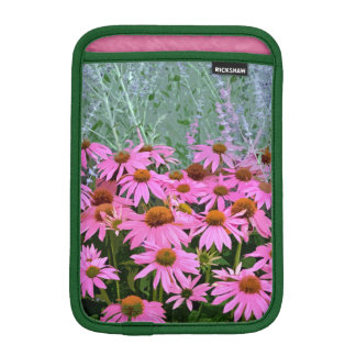 Pink echinacea floral design ipad mini sleeve