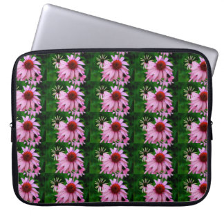 pink echinacea flower sleeve laptop sleeve
