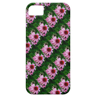 pink echinacea flowers on green case