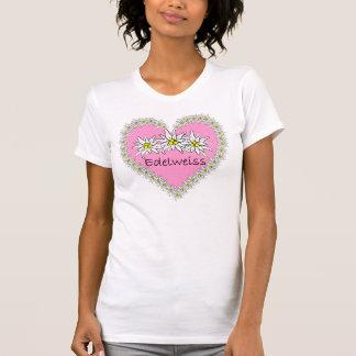Pink Edelweiss Octoberfest Heart T-Shirt