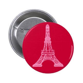 Pink Eiffel Tower 2 Inch Round Button