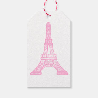 Pink Eiffel Tower Gift Tags Pack Of Gift Tags