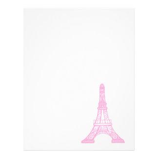 Pink Eiffel Tower Letterhead Design
