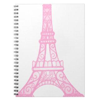 Pink Eiffel Tower Notebooks