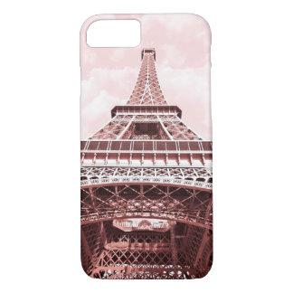 Pink Eiffel Tower, Paris in Pink iphone case