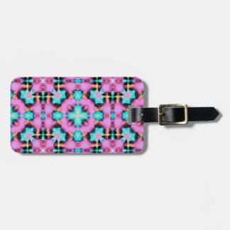 Pink Electric Shibori Patterned Bag Tag