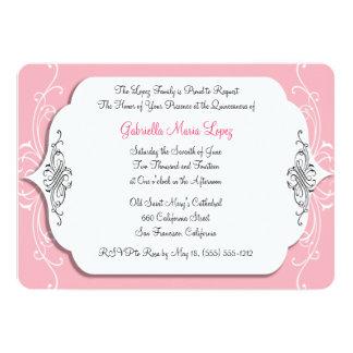 Pink Elegance Quinceanera Invitations