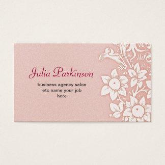 Pink Elegant Floral Canopy Vintage Shabby Business Card