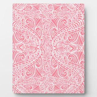 Pink Elegant flow Plaque