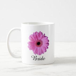 Pink Elegant Gerbera Daisy Basic White Mug