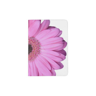 Pink Elegant Gerbera Daisy Passport Holder