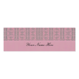 Pink Elegant Pattern Mini Business Card
