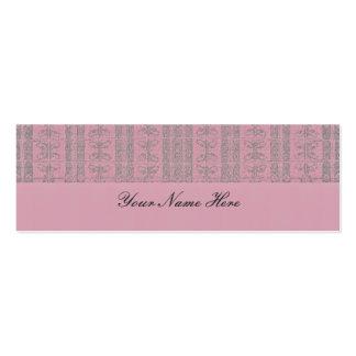 Pink Elegant Pattern Mini Business Card