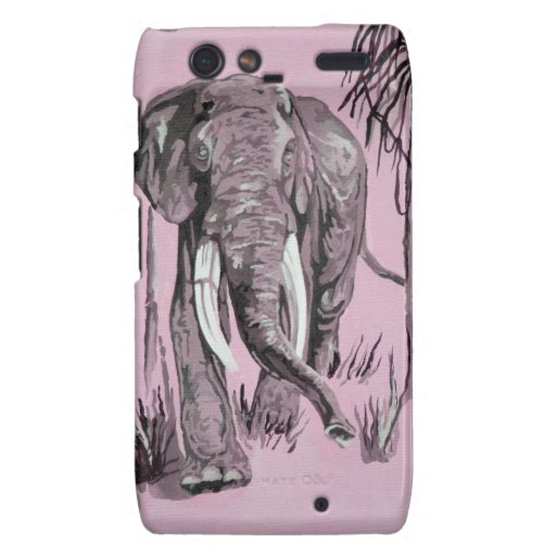 Pink Elephant Droid RAZR Cases
