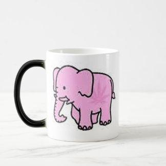 Pink Elephant Heat Sensitive Coffee Mug & Logo