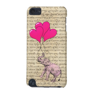 Pink elephant holding balloons iPod touch 5G cases