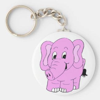 Pink Elephant Keychain