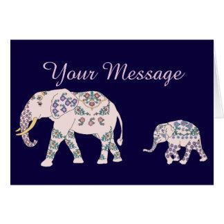 Pink Elephant Parade Card