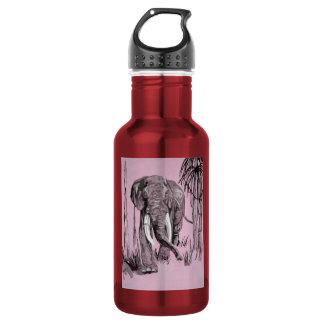 Pink Elephant 18oz Water Bottle