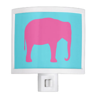 Pink Elephant Silhouette Night Lites