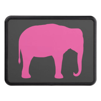 Pink Elephant Silhouette Trailer Hitch Cover