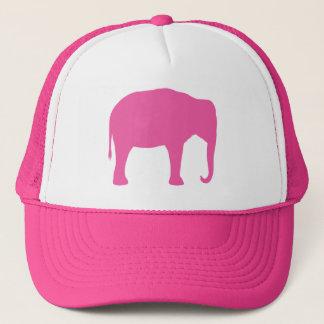 Pink Elephant Silhouette Trucker Hat