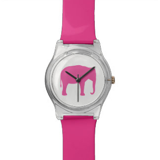 Pink Elephant Silhouette Watch