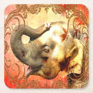 Pink Elephant Square Coaster