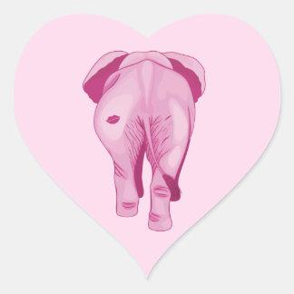 Pink Elephant SWAK Heart Sticker
