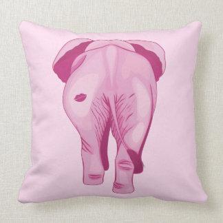 Pink Elephant SWAK Throw Pillow