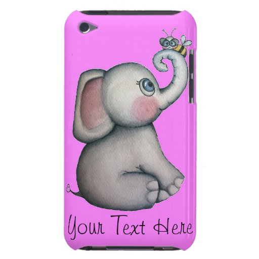 Pink Elephant with Bee iPod Touch Case
