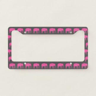 Pink Elephants License Plate Frame