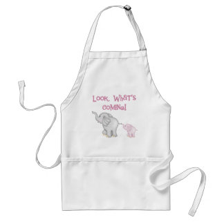 Pink Elephants Look What's Coming Standard Apron