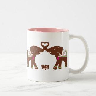Pink Elephants Love Mug