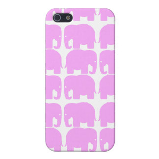 PInk Elephants Silhouette Speck Case iPhone 5 Case